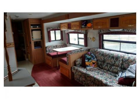 33 foot quad bunk camper