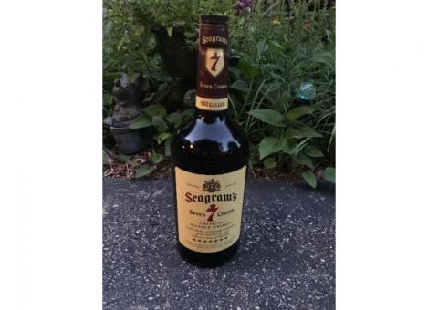Vintage Seagrams Seven Crown Whiskey 1-Gallon Bottle
