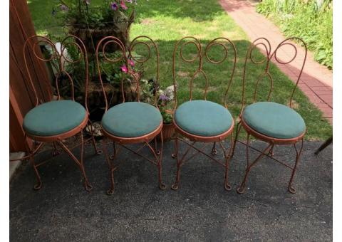 Vintage Ice Cream Parlor Chairs - Set of 4